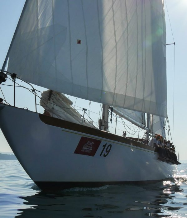 view of cadama at sea, the wheelchair accessible vintage vessel