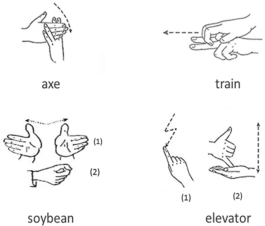 chinese sign language illustrations