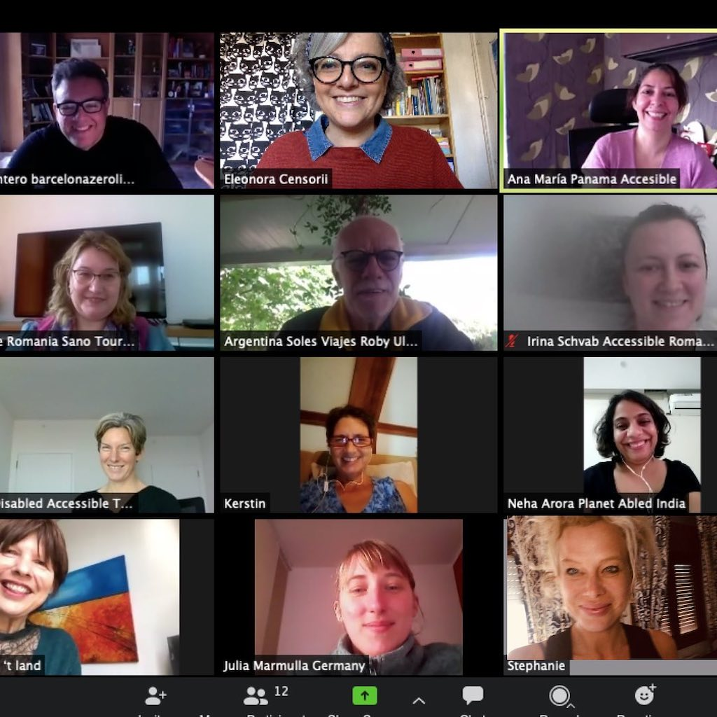 mosaic composition of various people connected on videoconference